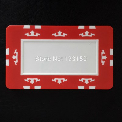 PK-2002 Rectangle poker chip,Blank plaque, Seven colors choice,  ABS material, Free shipping