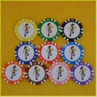 6006-RUN MAN   50pcs/pack Clay 14g Poker Chips insert metal, no face value chips, Free shipping