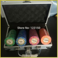 CP-002(A) Casino Poker Chips Ceramic, 100pcs Chips set,  Shipping Free