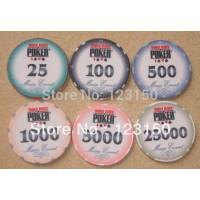 CP-009 WSOP 10G ceramic poker chip set without case - 500 piece
