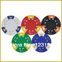 PK-5001  50pcs/pack Clay 14g Poker Chips insert metal, five beautiful colors