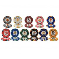 CP-003 Nile Club 10G ceramic poker chip set without case - 500 piece