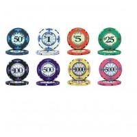 CP-004 Scroll 10G ceramic poker chip set without case - 500 piece