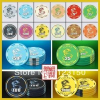 CP-007 Lucky Dragon 10G ceramic poker chip set without case - 500 piece