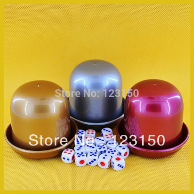 DC-001 Nice Three Colors Dice Cup Set with 18 pcs 13mm Dices