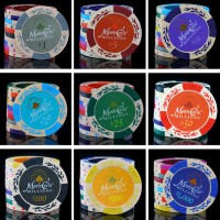 5PCS/Lot Best quality 14g per piece! Clay material! Poker chips Russian casino chip set pokerstars professional products