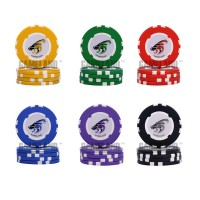 5PCS/Lot! Best quality Goat Logo! ABS material! Poker chips Upscale Russian casino chip set pokerstars professional products